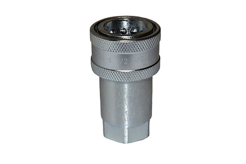 "Hydraulic Quick Coupler - Agricultural - 1/2"" NPT - Female Coupler - ISO 5675"