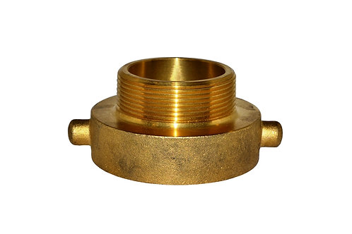 """Fire Hydrant Adapter - 2-1/2"""" Female NST/NH x 3"""" Male NPT - Brass"""
