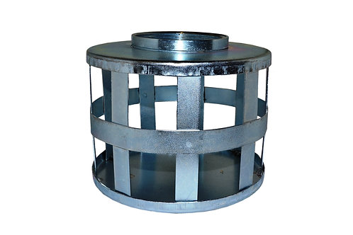 """Strainers - Standard - Square Hole - 6"""" NPSH - Zinc Plated"""