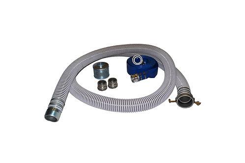 "PVC Flexible Clear Suction Hose - 3"" x 20' - Conventional Kit 25' Blue Discharge"