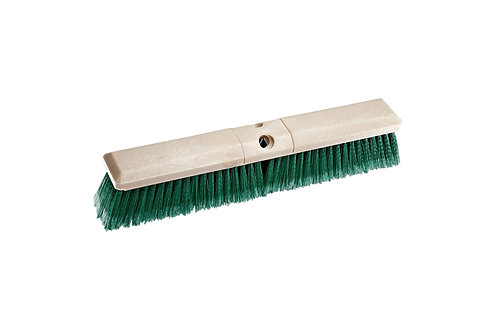 "Floor Brush - Perma-Sweep - 18"" Block - Flagged Green Polystyrene Fill - 42163"