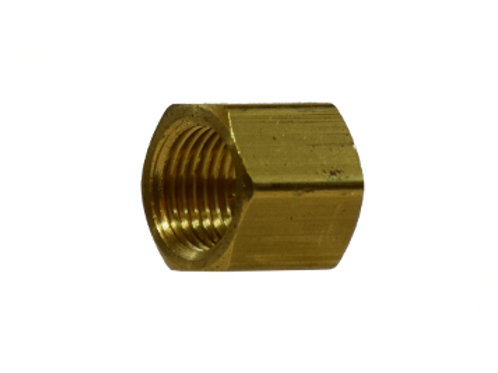 "Pipe Fitting - 1/4"" Cap - Brass"