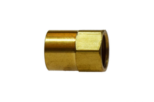 """Inverted Flare Fitting - Female Adapter - 1/2"""" Inverted Flare x 3/8"""" FPT - Brass"""