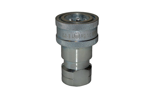 "Hydraulic Quick Coupler - ISO 7241-1 B - 1/2"" NPT - Female Coupler - IRB Series"