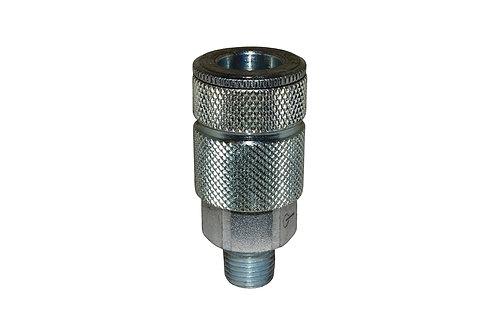 "Automotive Tru-Flate - 3/8"" Coupler - 3/8"" Male Pipe Threads"