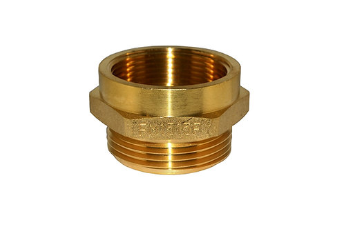 """Fire Hydrant Adapter - 1-1/2"""" Female NPT x 1-1/2"""" Male NST/NH - Brass"""