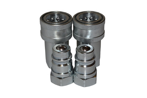 """Hydraulic Quick Coupler - Agricultural - 1/2"""" NPT - Complete Set - ISO 5675 2PK"""
