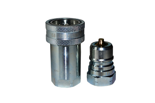 """Hydraulic Quick Coupler - ISO 7241-1 A - 1"""" NPT - 6600 Series - Complete Set"""