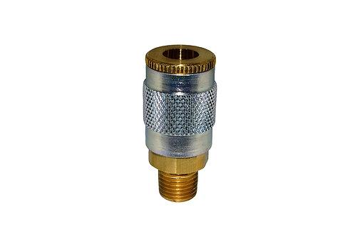 "Automotive Tru-Flate - 1/4"" Coupler - 3/8"" Male Pipe Threads"