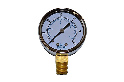 """Utility Dry Gauge - 2"""" - 0 to 60 PSI - LM 1/4"""" NPT"""