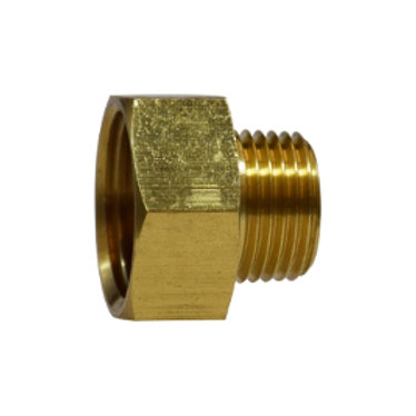 "Garden Hose Fitting - Rigid - 3/4"" Female GHT x 3/4"" Male Pipe - Brass"
