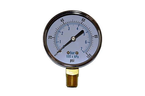 """Utility Dry Gauge - 2-1/2"""" - 0 to 100 PSI - TL25"""