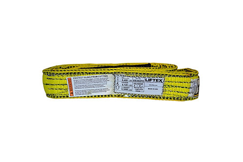 "Lifting Web Sling - 2"" x 3 FT - Two Ply - Flat Eye - Type 3 - Polyester"