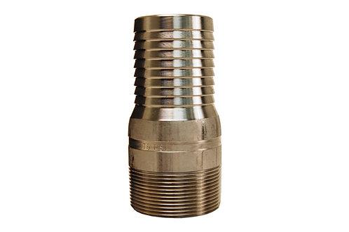 "King Nipple - Combination - 2"" - NPT Threaded - 316 Stainless Steel"