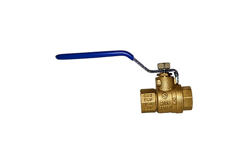 "Ball Valve - Full Port - 3/8"" - Female Threads - Brass"