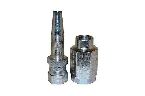 "Hydraulic Fitting - Reusable - 3/8"" Hose I.D. x 3/8"" Female JIC - 100R2AT Hose"