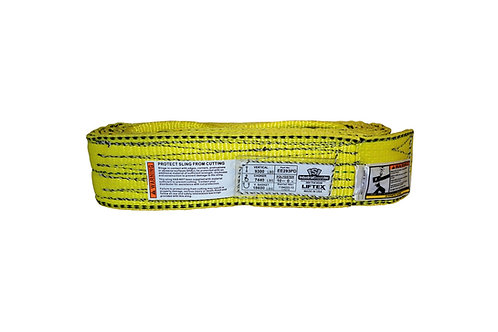 "Lifting Web Sling - 3"" x 10 FT - Two Ply - Flat Eye - Type 3 - Polyester"