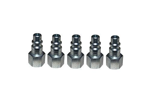 "Industrial Interchange - 1/4"" Plug - 3/8"" Female Pipe Threads - 5 Pack"