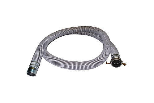"""PVC Flexible Clear Suction Hose - 2"""" x 20 FT - Conventional Style - Assembly"""