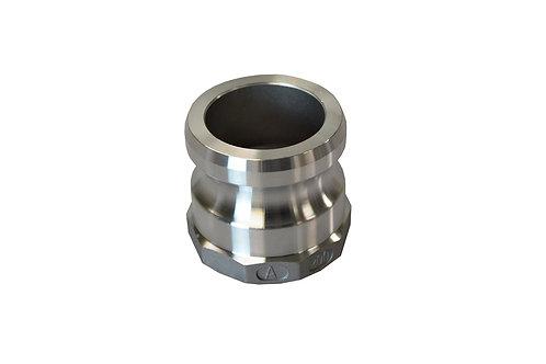 """Camlock - Male Adapter x Female NPT - 1-1/4"""" - Aluminum - 125A"""