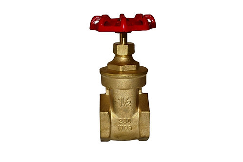 "Gate Valve - 1-1/2"" - Full Port - Brass"