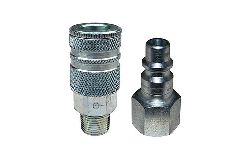 "Industrial Interchange - 3/8"" Coupler - 3/8"" Plug - 3/8"" Pipe Threads"