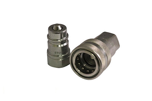 """Hydraulic Quick Coupler - ISO 7241-1 B - 1"""" NPT - Complete Set - Stucchi"""