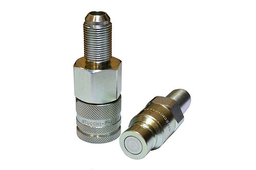 """Hydraulic Quick Coupler - ISO 16028 Flat Face - 1/2"""" JIC Bulkhead - Complete Set"""