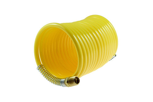 "Coiled Air Hose - 3/16"" x 12 FT - Nylon"