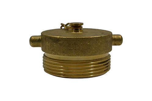 """Fire Hydrant Adapter - Plug - 2-1/2"""" Male NST/NH - Brass"""