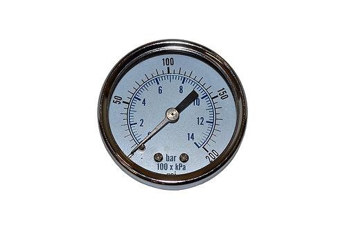 "Utility Dry Gauge - 2"" - 0 to 200 PSI - 1/4"" CBM"