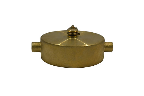 """Fire Hydrant Adapter - Cap - 2-1/2"""" - Female NST/NH - Brass"""