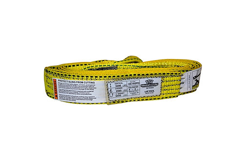 "Lifting Web Sling - 2"" x 4 FT - One Ply - Flat Eye - Type 3 - Polyester"