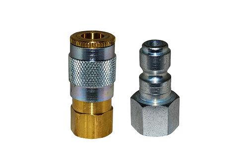 "Automotive Tru-Flate - 1/4"" Coupler - 1/4"" Plug - 1/4"" Female Pipe Threads"