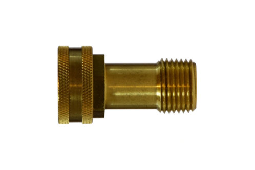 "Garden Hose Fitting - Swivel - 3/4"" Female GHT x 3/8"" Male Pipe - Brass"