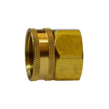 """Garden Hose Fitting - Swivel - 3/4"""" Female GHT x 1/2"""" Female Pipe - Brass"""