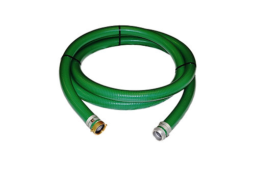 "PVC Green Standard Suction Hose - 3"" x 20 FT - Pin Lug Style - Assembly"