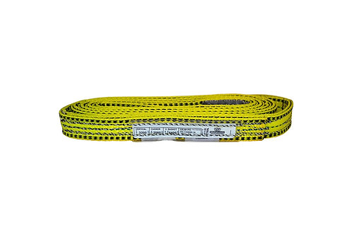 "Lifting Web Sling - 1"" x 6 FT - Two Ply - Flat Eye - Type 3 - Polyester"