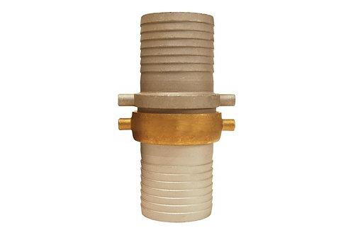 "Pin Lug Coupling - King Short Shank - 2-1/2"" NST Threads - Complete - Aluminum"
