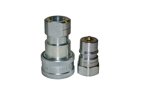 """Hydraulic Quick Coupler - ISO 7241-1 B - 1/2"""" NPT - Complete Set - IRB Series"""
