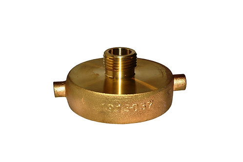 """Fire Hydrant Adapter - 2-1/2"""" Female NST/NH x 3/4"""" Male GHT - Brass"""