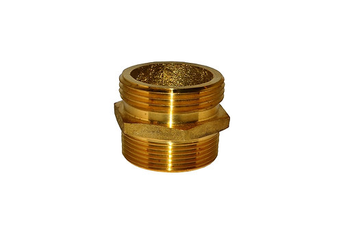 """Fire Hydrant Adapter - 1-1/2"""" Male NPT X 1-1/2"""" Male NST/NH - Brass"""