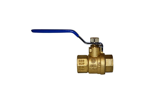 "Ball Valve - Full Port - 1/2"" - Female Threads - Brass"