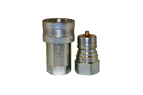 """Hydraulic Quick Coupler - ISO 7241-1 A - 3/4"""" NPT - 6600 Series - Complete Set"""