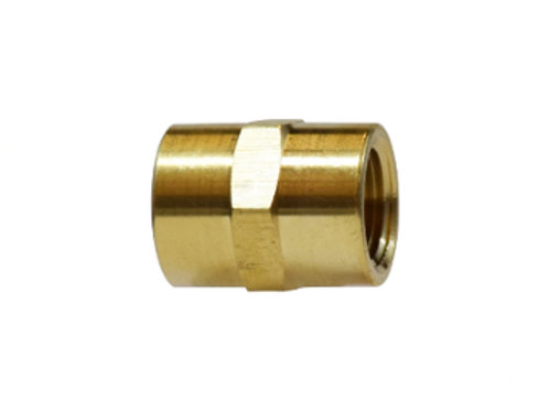 """Pipe Fitting - Coupling - 3/8"""" Female Pipe x 3/8"""" Female Pipe - Brass"""