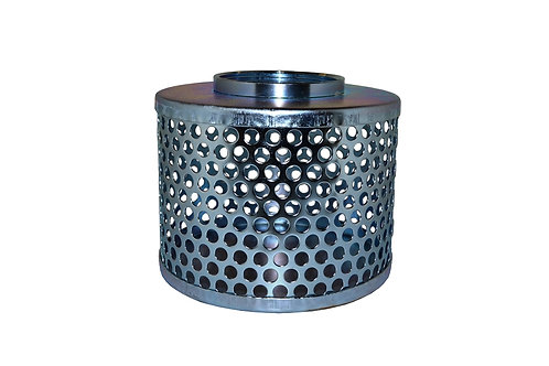 """Strainers - Standard - Round Hole - 2"""" NPSH - Zinc Plated"""
