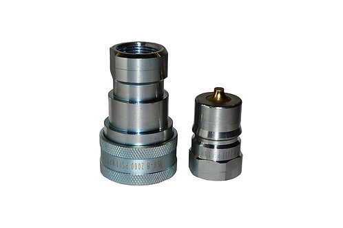 """Hydraulic Quick Coupler - ISO 7241-1 B - 1"""" NPT - Complete Set - IRB Series"""