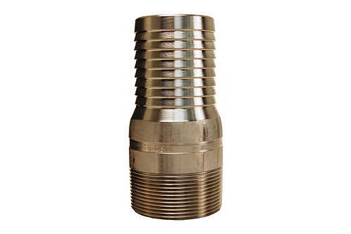 "King Nipple - Combination - 4"" - NPT Threaded - 316 Stainless Steel"