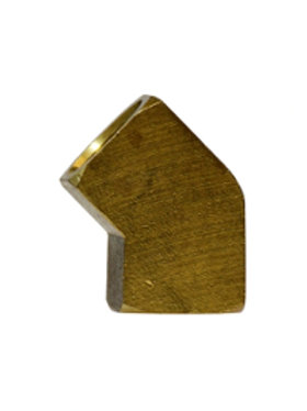 """Pipe Fitting - 45° Female Elbow - 1/4"""" FPT x 1/4"""" FPT - Brass"""
