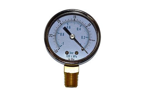 """Dry Vacuum Gauge - 2"""" -30 to 0 in HG - LM 1/4"""" NPT"""